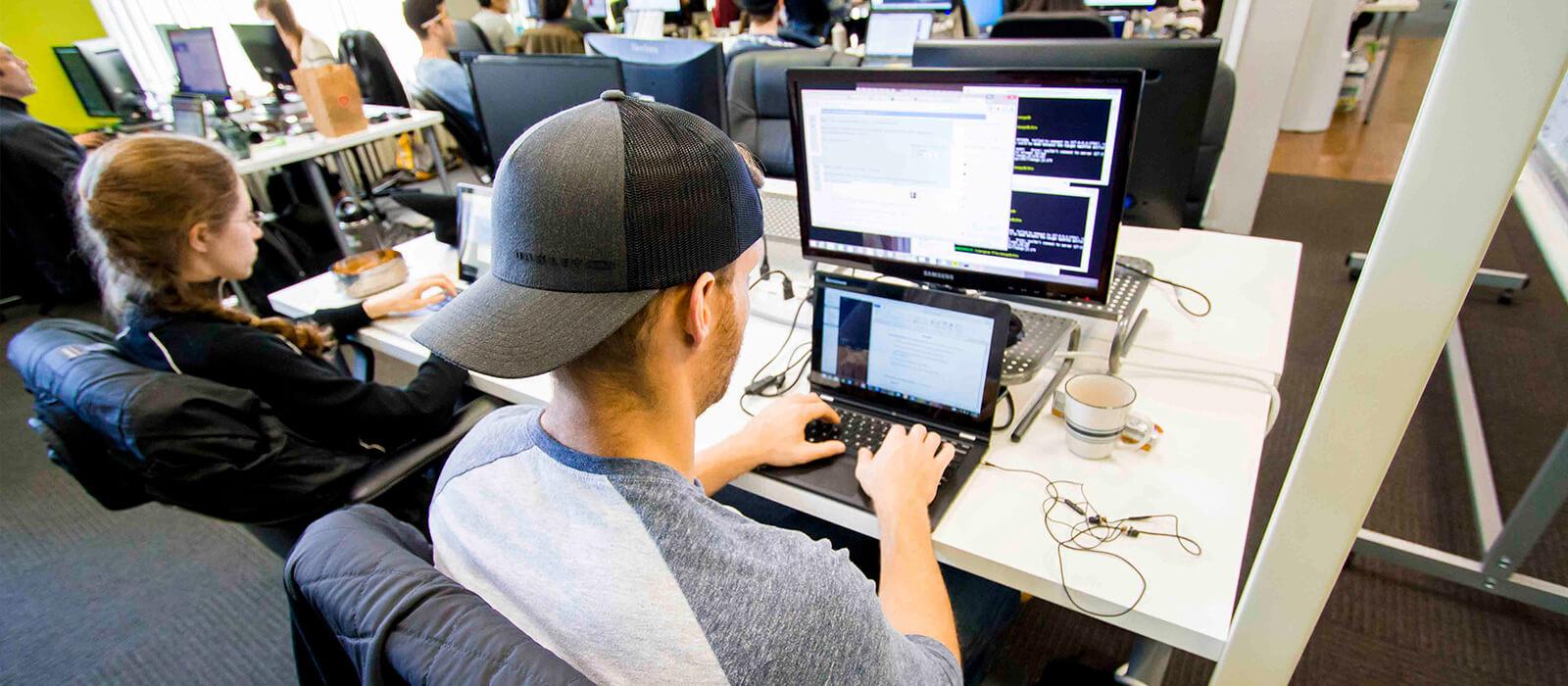 Coding dojo students